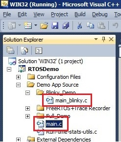 Simple FreeRTOS demo using Windows